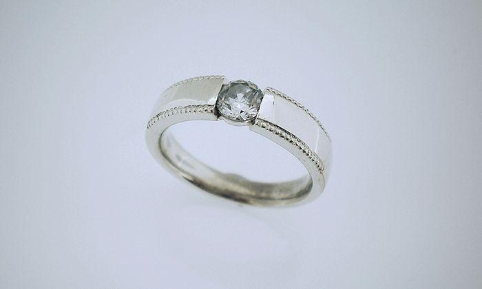 Tension setting ring #broadring #wedding #engagementring #diamond #jewellery