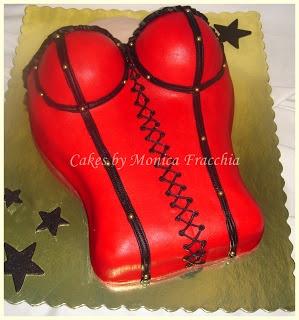 TORTA DECORADA CORSÉ ROJO EN 2D (DOS DIMENSIONES) | TORTAS CAKES BY MONICA FRACCHIA