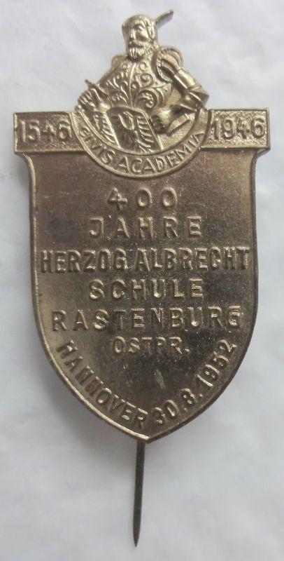 Orden Spange Abzeichen Nadel Rastenburg Ostpreußen Hannover Niedersachen RAR ALT