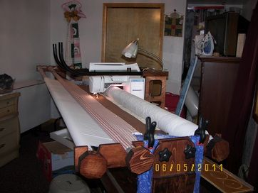 Plans you can buy to MAKE YOUR OWN long arm quilting machine! Oh if I had the room!!! One day!!