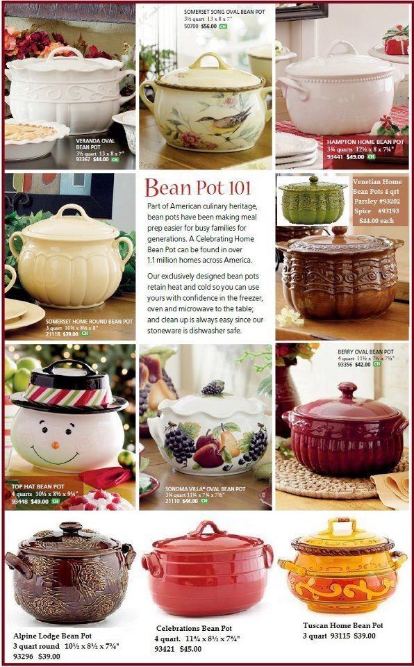 Bean Pot Recipes with Gwen Helmka: Bean Pots  go to www.gwenhelmka.com to see current bean pots or contact me at gwenhelmka@ymail.com
