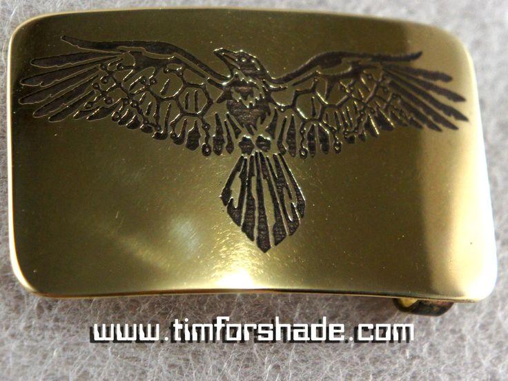 Eagle shaman brass belt buckle by TimforShade on DeviantArt