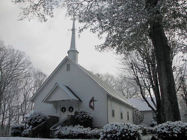 Fairview United Methodist Church + First Snow