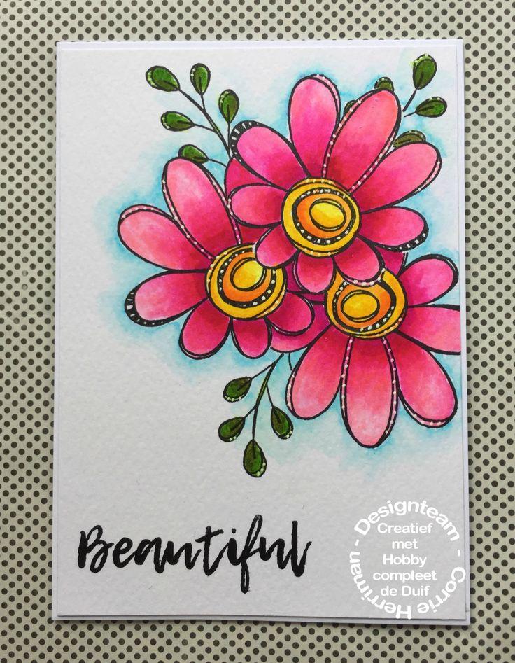 Hallo allemaal, Vandaag heb ik deze kaart voor jullie. Ik vind deze bloemen fantastisch en zal nog wel een aantal projecten maken met deze PaperArtsy stempelset. (Link beneden !). Ik heb de eerste …