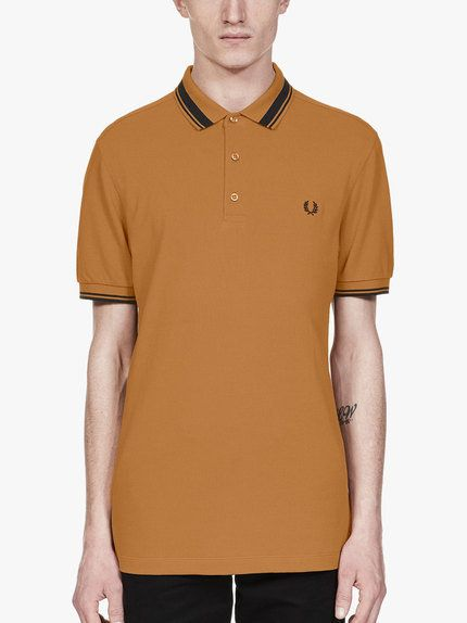 bffc43fcf Fred Perry Contrast Tipped Polo Caramel