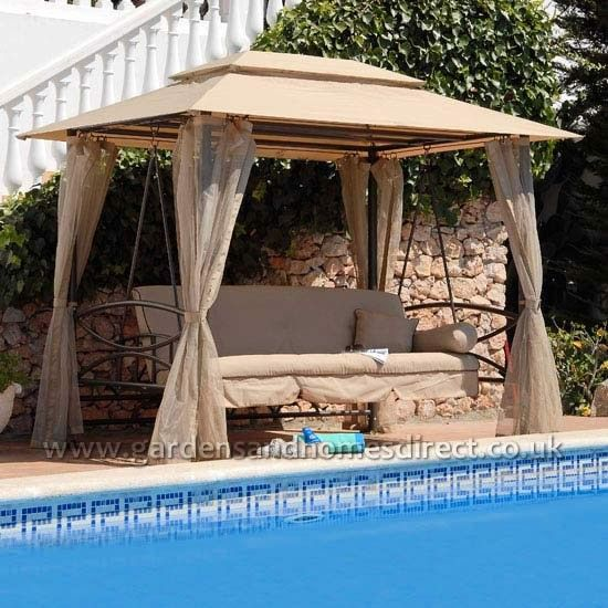 Replacement Canopy for Beige Suntime Luxor Gazebo Swing | Spare Gazebo Canopy