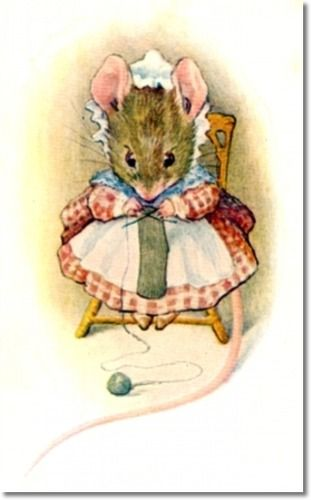 Beatrix Potter - Appley Dapplys Nursery Rhymes - 1917 - Old Woman Was Surely A Mouse