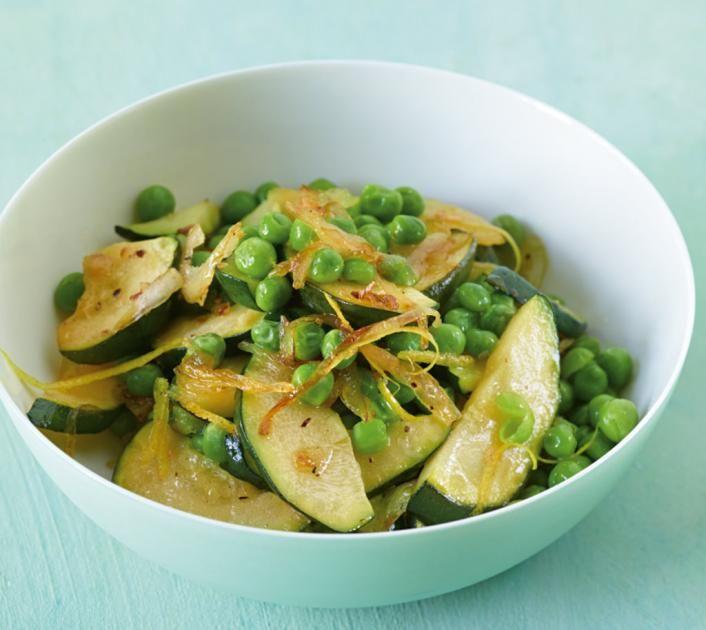 Zucchini-Erbsen-Gemüse Rezept - [ESSEN UND TRINKEN]