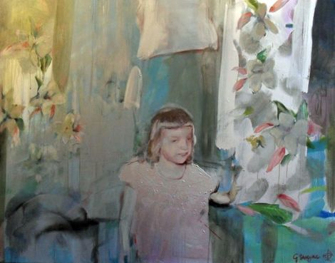 Geraldine Swayne, Unknown (Private Collection oil and acrylic on canvas - 2010 - 5'x4') on ArtStack #geraldine-swayne #art