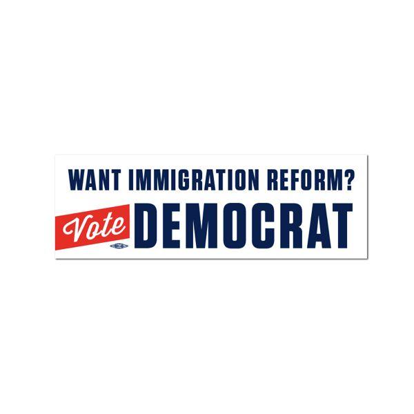 Vote democrat bumper sticker bs58942 democraticstuff com