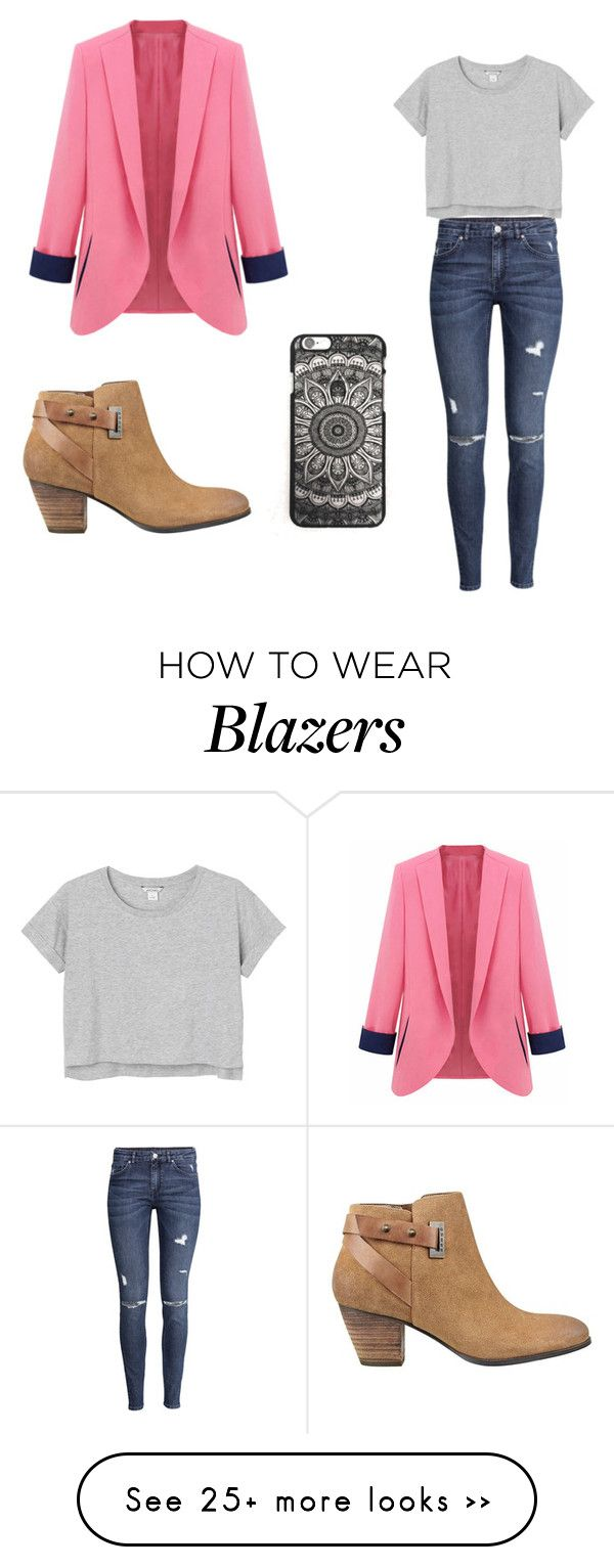 """my dream blazer"" by justki01 on Polyvore featuring H&M, Monki and GUESS:"