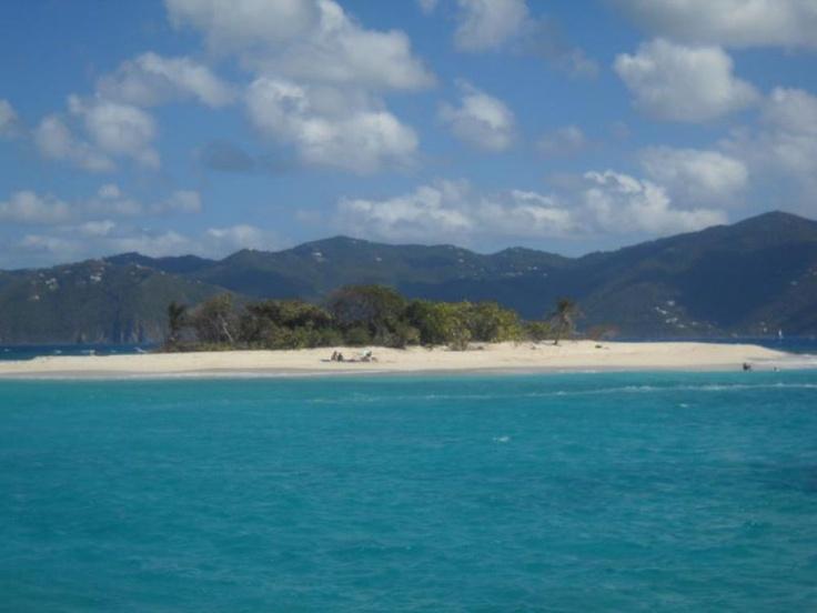 Sandy Spit, a small sandbar island between Tortola and Jost Van Dyke in the British Virgin Islands, February 2011.