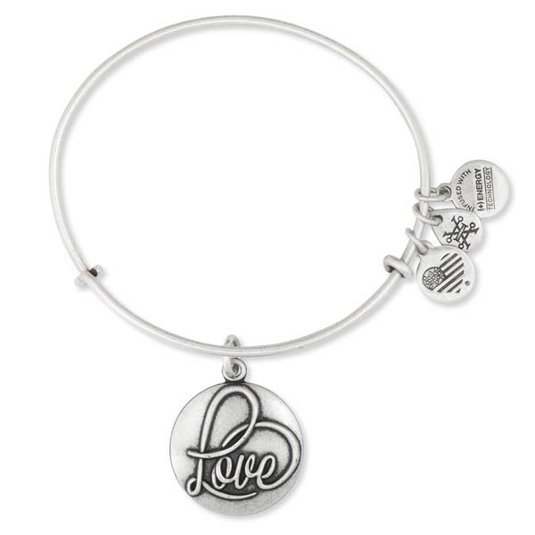 Alex and Ani Love Expandable Charm Bangle at The Paper Store