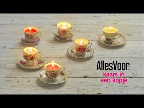 DIY: zelf kaarsen maken in een nostalgisch kopje, als cadeau of woondecoratie. - Instructies - Weethetsnel.nl