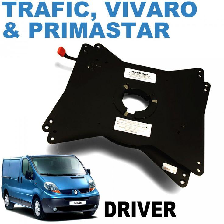 RIB swivel plate for single front seats in Vivaro, Trafic, Vivaro & Primastar camper conversions