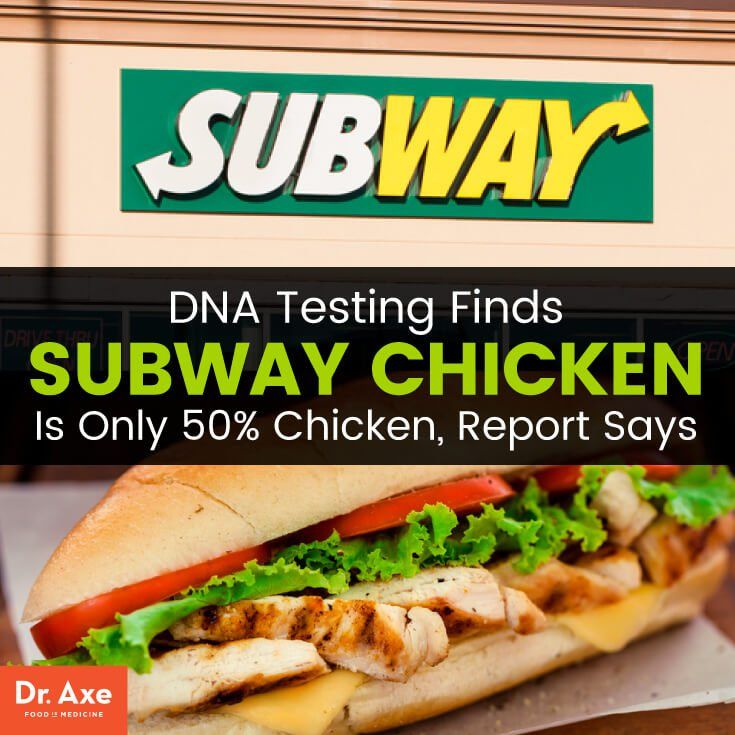DNA Testing Finds 50% of Chicken Isn't Chicken... Subway, A&W, Wendy's, Tim Hortons, McDonald's - many others I'm sure!