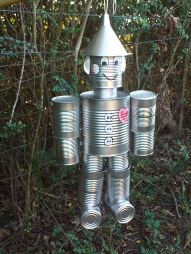 Hand Crafted Original Tin Can Man (The Wizard Of Oz) (Ears). $50.00, via Etsy.