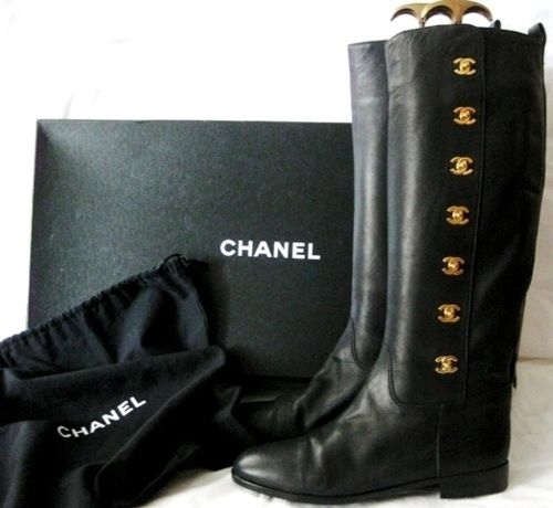 Chanel Riding Boots>>> What I wouldn't give for these, omg!