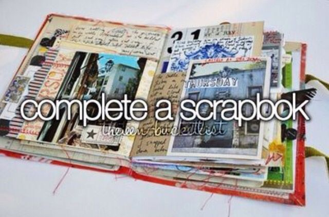 I think I'm going to start a scrapbook soon♡ but need some ideas♡