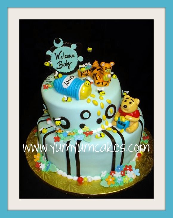 Awesome Winnie The Pooh Baby Shower Cakejpg