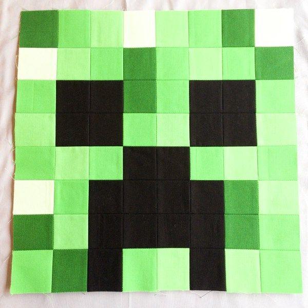 Minecraft Quilt Block 3: Creeper
