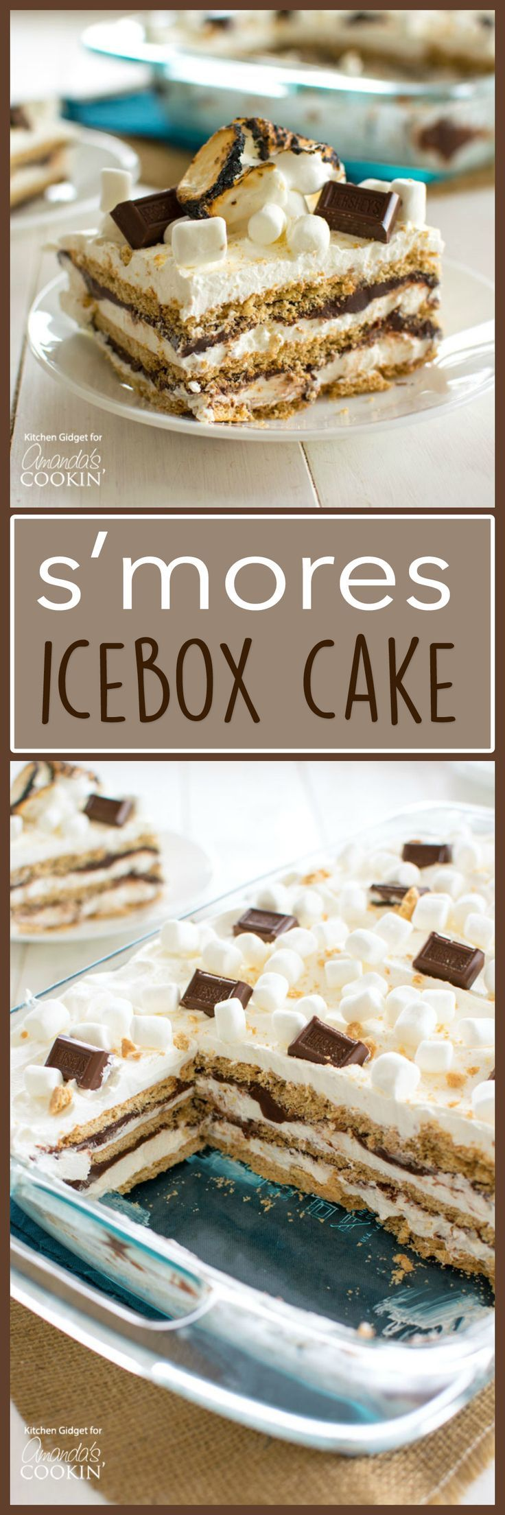 S'mores Icebox Cake: With layers of graham crackers, marshmallow whipped cream, and chocolate ganache I guarantee everyone will be clamoring for s'more!