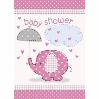 Uitnodigingen Babyshower Roze