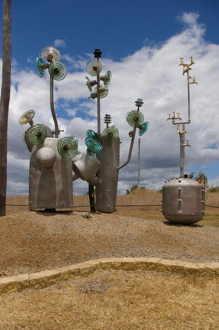 Junk sculptures at Childers