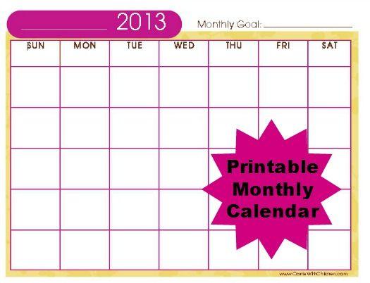 Best 25+ Monthly calendar template ideas on Pinterest   Free ...