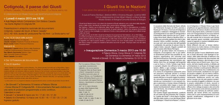 Cotignola, il paese dei Giusti/2013