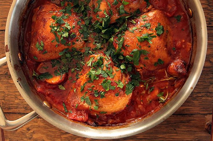 Growing up, one of our favourite dinners Mum made was Chicken Chasseur, of the Maggi variety (no judgment please). In our version of this dish we use chicken thighs and our old friend the anchovy, about whom we have written before, to add his salty richness. This is such a comforting dish and always makes us feel like we are at home. We eat it with a crusty baguette or creamy mash and a big leafy salad.