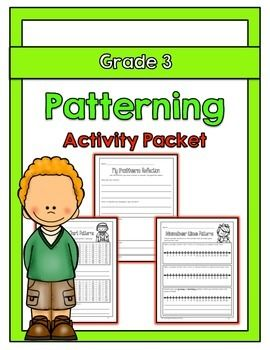 """The """"Grade 3 Patterning Activity Packet"""" is aligned with the Ontario Grade 3 Mathematics curriculum. The concepts addressed in this packet are as follows: Identify, extend and create a repeating pattern involving two attributes; Identify and describe number patterns involving addition, subtraction and multiplication, represented on a number line, on a calendar, and on a hundreds chart; Extend repeating, growing, and shrinking number patterns; Create a number pattern involving addition or…"""