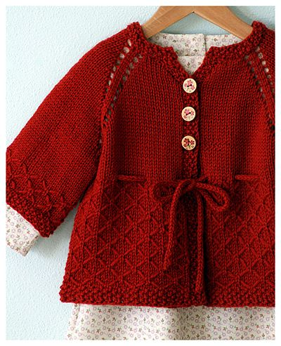 I've gotta learn how to knit! I don't have any girls but this is so cute (made by Alicia Paulson; Pattern: Springtime in Hollis by Teresa Cole)