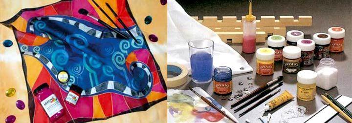 Pintar sobre seda