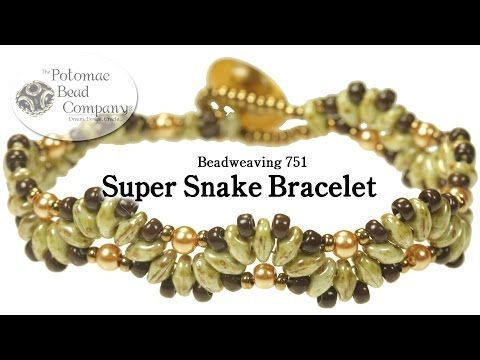 "Make a ""Super Snake"" Bracelet Easy & Fast. ~ Seed Bead Tutorials"