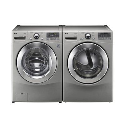 LG Appliances WM3070HVA-DLEX3070V Front-Load Washer & Dryer Set