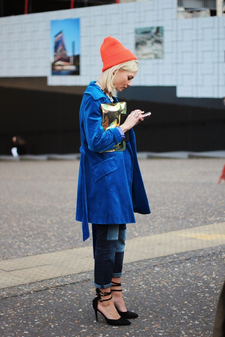 LFW, bright colors and patchwork denim.