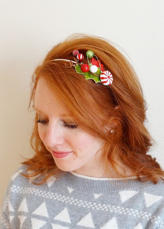 christmas headband adult tacky sweater party by thehoneycomb