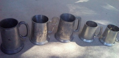 Pewter steins SOLD