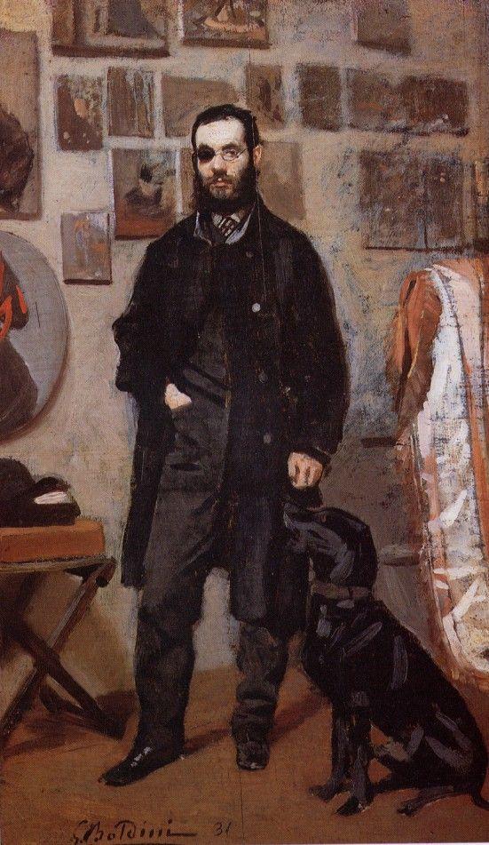 Giovanni Boldini, Ritratto di Beppe Abbati (1865) - Firenze, Collezione privata