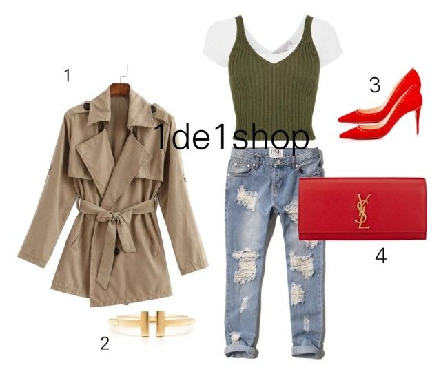 """""""Untitled #3"""" by chicchampion-579 on Polyvore featuring Abercrombie & Fitch, Yves Saint Laurent, Christian Louboutin and Tiffany & Co."""