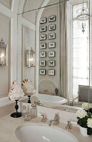 Brabourne Farm: Bathrooms - mirrors over vanity