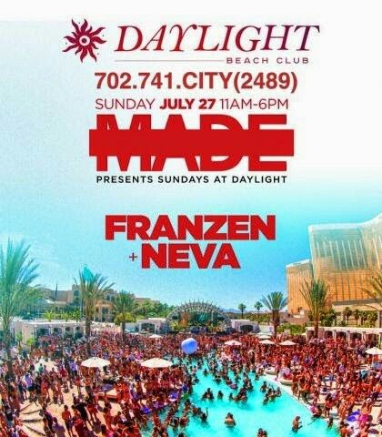 Franzen and Neva Sunday July 27th at DAYLIGHT Beach Club Las Vegas. Contact 702.741.2489 City VIP Concierge for Cabanas, Daybeds, Bungalows and the BEST of Las Vegas Pool Parties!!! #DaylightBeachClub #VegasPoolParties #LasVegasPoolParties #VegasCabanas #CityVIPConcierge *CALL OR CLICK TO BOOK* http://cityvipconcierge.wantickets.com/Events/161857/MADE-Sundays-with-Franzen-and-Neva-at-DAYLIGHT-Beach-Club/