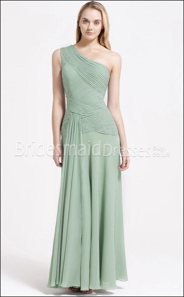 Sage Green One Shoulder Bridesmaid Dresses