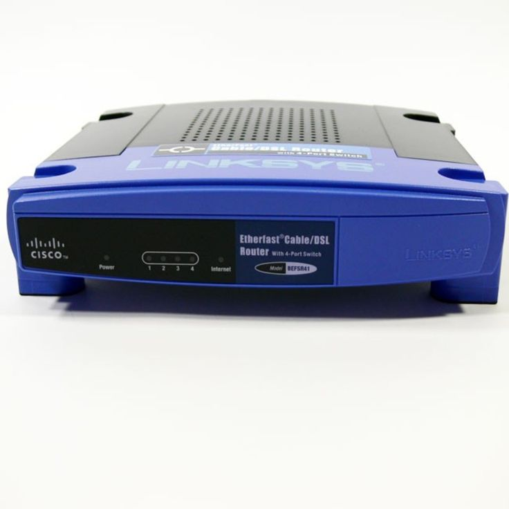 Linksys Router LAN EN 4-Ports Switch 10/100Mbps WAN Cable/DSL 1-Port 10Mbps BEFSR41