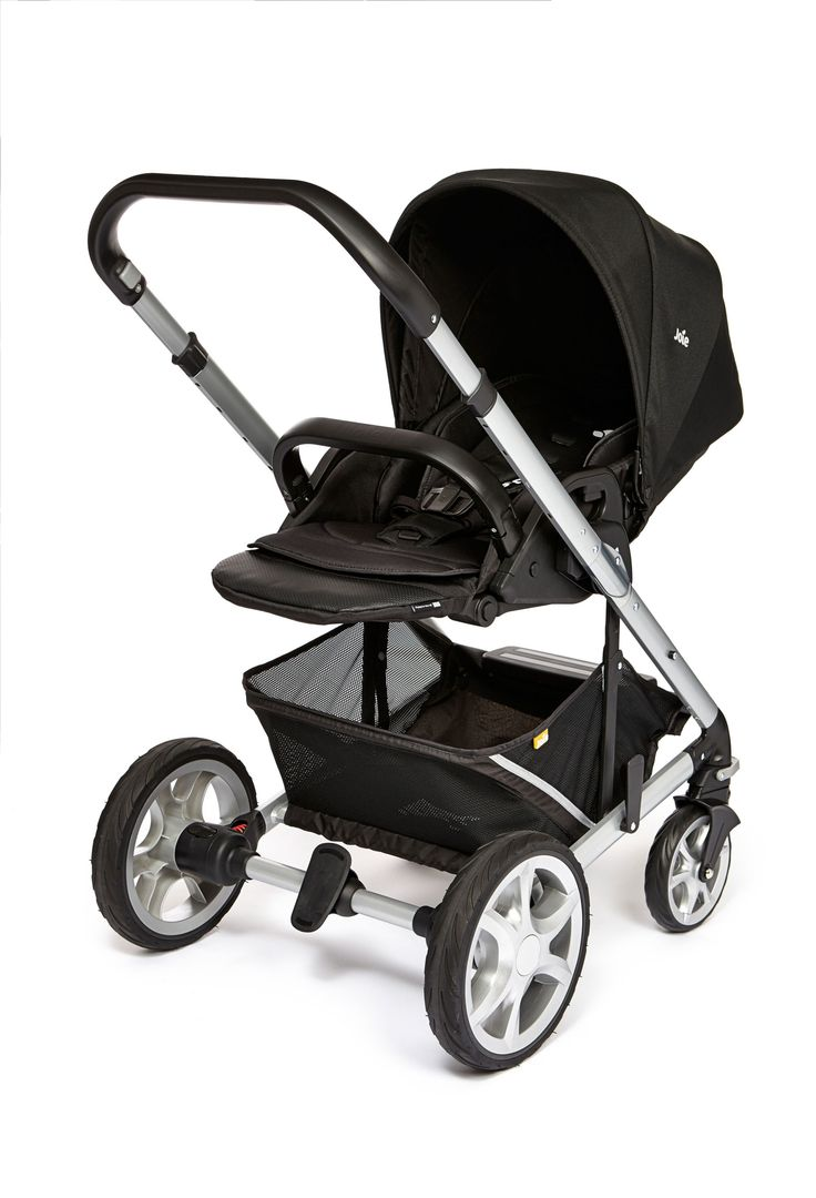 Joie Chrome Plus Pushchair Silver Chassis With Car Seat