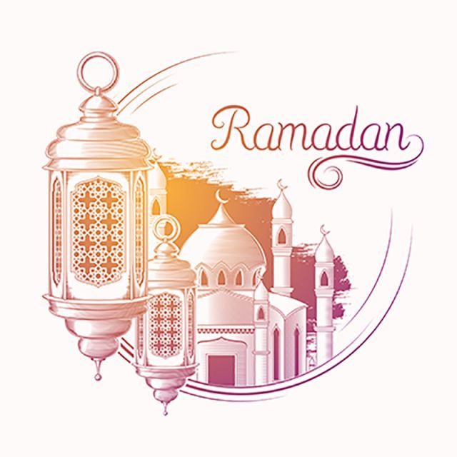 Islamic Greeting Mubarak Ramadan Ramadan Kareem Festival Traditional Celebration Month Background Ramadan Greeting Lantern Ca Ilustrasi Vektor Ilustrasi Sketsa