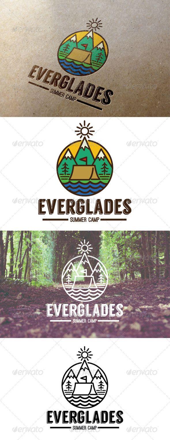 Summer Camp Everglades Logo  EPS Template • Download ➝ https://graphicriver.net/item/summer-camp-everglades-logo/7795684?ref=pxcr