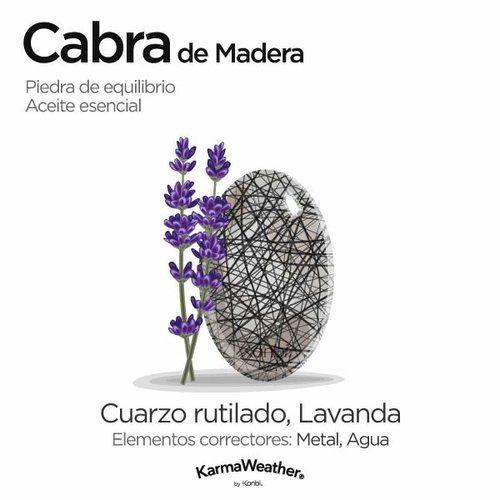 Curación energética y aromaterapia para la Cabra de Madera - Cuarzo rutilado #PiedraPreciosa y Lavanda #AceiteEsencial