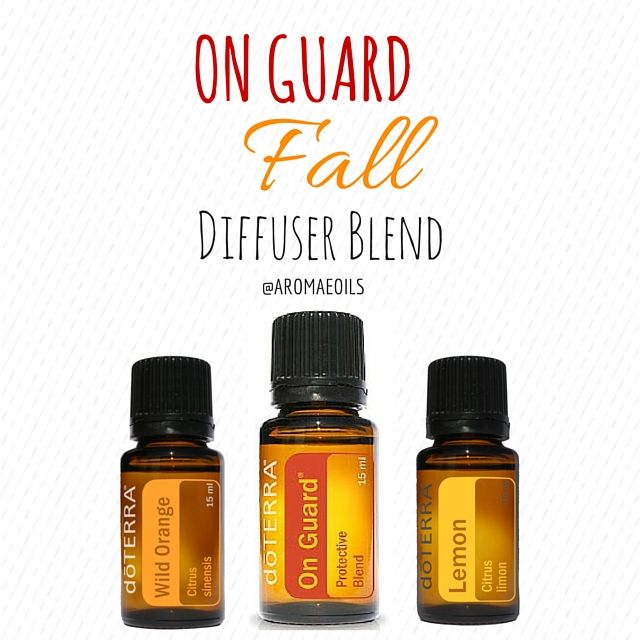 On Guard FALL Diffuser Blend: Add 3-4 drops of On Guard and 3-4 drops of Wild Orange OR Lemon